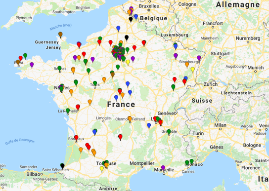 Carte evenements